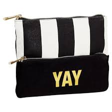 pencil pouch the emily meritt black white stripe pencil pouch pbteen