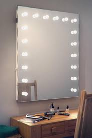 Mirrored Makeup Vanity Table Lighted Vanity Mirror Desk Luxury Furniture Rug Fancy Makeup