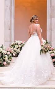lace and tulle plus size ball gown wedding dress stella york