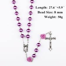 necklace rosary beads images Ningxiang 8mm purple rosary beads catholic rosary necklace for jpg