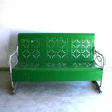 Green Wrought Iron Patio Furniture by Bench Olympus Digital Camera Metal Glider Bench Kalon Patio