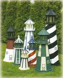lighthouses are handcrafted from one half inch signboard plywood