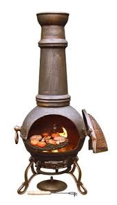 Cooking On A Chiminea All About Back Yard Garden And Patio Chimineas Cooking On A