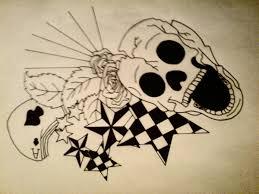 tatto skull design2 by cherry on deviantart