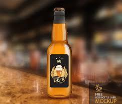 beer bottle label mockup mockups psd templates for designers