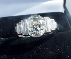 sold exceptional old cut diamond original art deco ring e drury
