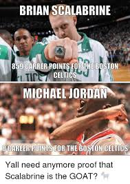 Brian Scalabrine Meme - brian scalabrine 859 carrer points for the boston celtics michael