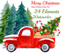Susan Wallace Barnes Christmas Cards Watercolor Christmas Clipart