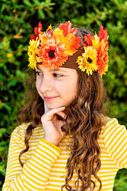 flower headdress diy fall leaf and flower headdresses and crowns in the