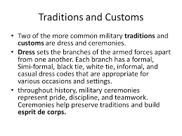 american traditions customs and courtesies ppt