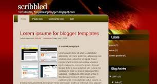 my blogger templates free xml blogger template