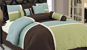 bedding set superior blue and green twin comforter sets