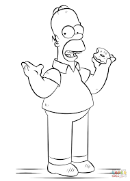 homer simpson coloring pages funycoloring