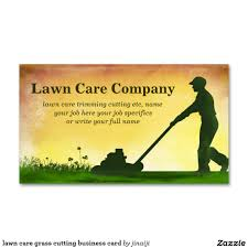 lawn care grass cutting business card lawn care business cards