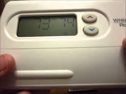mobile home thermostat upgrade original intertherm to white
