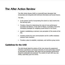 sample after action review template u2013 7 documents in pdf word
