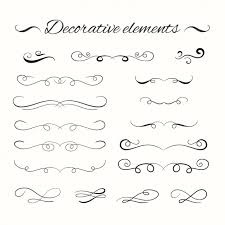 decorative ornament and border collection vector free