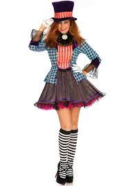 Clock Halloween Costume 2 Pc Ravishing Mad Hatter Costume Includes Multi Print Dress