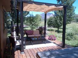Pergolas Home Depot by Hampton Bay 9 Ft X 9 Ft Steel And Aluminum Arched Pergola With