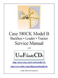 case 580ck model b service manual transmission mechanics tractor
