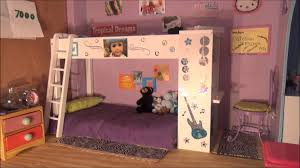 girls dollhouse bed american doll house tour youtube