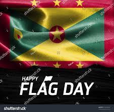 Grenda Flag Happy Flag Day Typography Grenada Flag Stock Photo 333144386