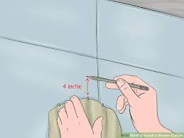 How To Fix A Shower Curtain Rod How To Install A Shower Curtain 15 Steps With Pictures