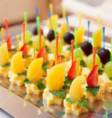 canapes fruit canapes of cheese with fruits stock photo serreitor 12475306