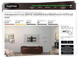proper height to hang pictures on wall heightfinder sanus