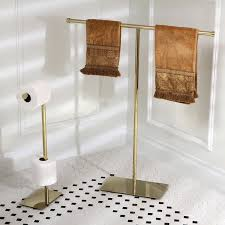 modern polished brass freestanding bathroom accessories free