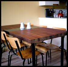 reclaimed wood table with metal legs dining table made from a reclaimed door