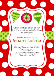 lovely ornament exchange invitation wording part 6