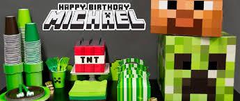 minecraft birthday supplies minecraft inspired party supplies birthdayexpress