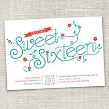 Material Girls Blog Vintage Norcross Sweet Sixteen Party Invite Illustrations