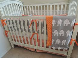 orange houndstooth and gray elephants babylovin