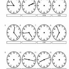 telling time worksheets printable pdfs