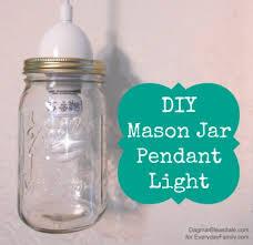 Mason Jar Pendant Light Diy Mason Jar Pendant Light