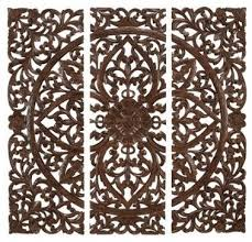 wall design ideas benzara carved wood wall panel home