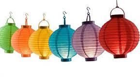battery operated paper lantern lights battery operated chinese paper lantern 6pc amazon co uk garden