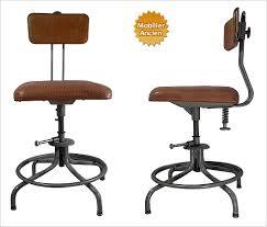 siege reglable en hauteur chaise design industriel flambo