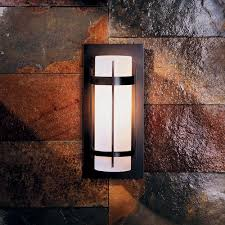 Exterior Wall Sconce Hubbardton Forge 305892 Banded Led Outdoor Wall Sconce Lighting