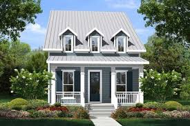 narrow cottage with 3 dormers 51713hz architectural designs