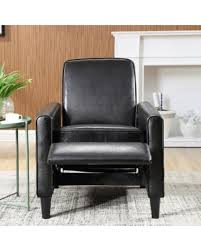 Faux Leather Recliner Check Out These Holiday Deals On Nathaniel Home Vivian Black Faux