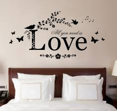 romantic wall sticker for bedrooms give a touch of creativity to
