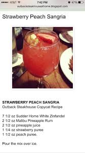 strawberry peach sangria outback so delicious food and drinks