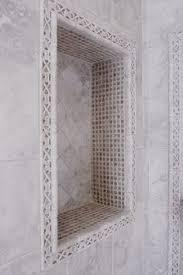 bathroom tile trim ideas pencil trim around tile alcove half bath facelift pinterest