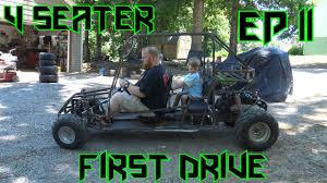 homemade truck go kart 4 seater go kart build ep 11 she is alive youtube
