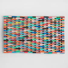 Long Doormats Multicolor Flip Flop Doormat World Market