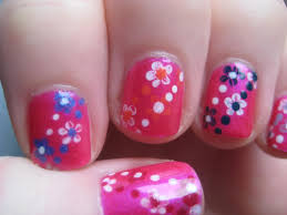 easy small summer flowers beginners nail art on short nails youtube
