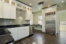 Dark Wood Floor Kitchen by White Kitchen With Dark Wood Floor Pictures Unique Home Design